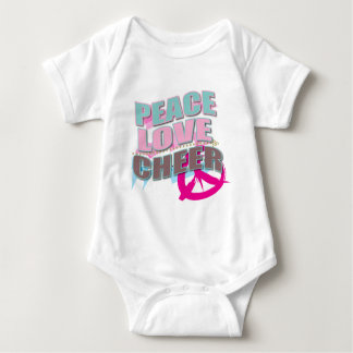 Peace, Love, Cheerleading Gifts Baby Bodysuit