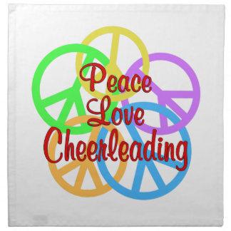 Peace Love Cheerleading Napkin