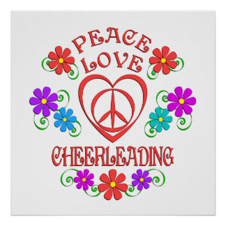 Peace Love Cheerleading Poster
