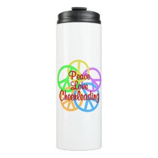 Peace Love Cheerleading Thermal Tumbler