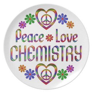 Peace Love Chemistry Dinner Plate