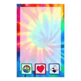 Peace, Love, Chess Custom Stationery