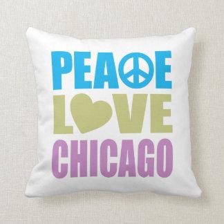 Peace Love Chicago Cushion