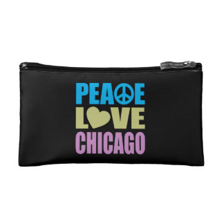 Peace Love Chicago Makeup Bags