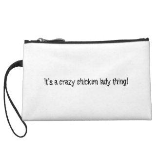 Peace Love Chicken Wristlet Clutch