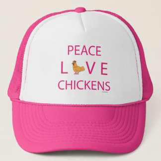 Peace Love Chickens Trucker Hat