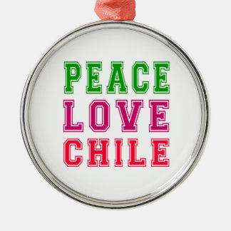 Peace Love Chile. Christmas Ornament