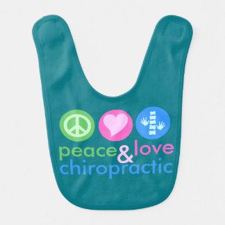 Peace, Love & Chiropractic Baby Bib
