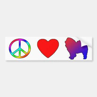 Peace Love Chow Chows Bumper Sticker