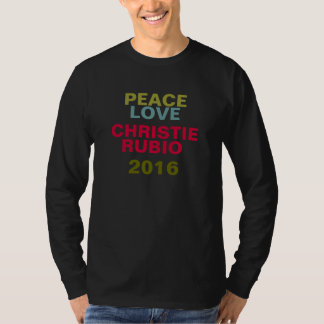 Peace Love CHRISTIE RUBIO 2016 Campaign T-Shirt
