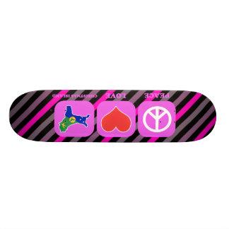 Peace Love Christmas Island Skate Board Deck