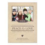 Peace & Love Christmas Photo Flat Card 13 Cm X 18 Cm Invitation Card