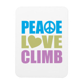 Peace Love Climb Magnet