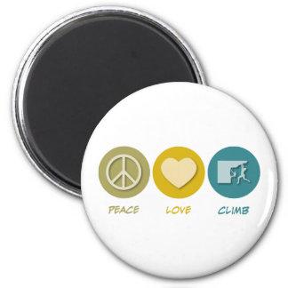 Peace Love Climb Fridge Magnets