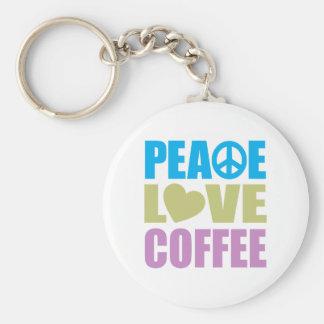 Peace Love Coffee Key Ring