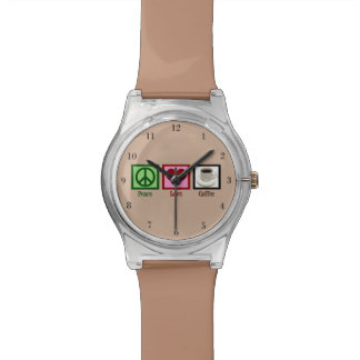 Peace Love Coffee Wristwatches