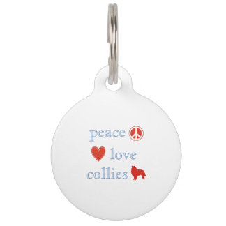 Peace Love Collies Pet Tag