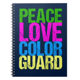 Peace Love Color Guard Notebook