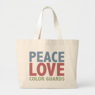 Peace Love Color Guards Tote Bag