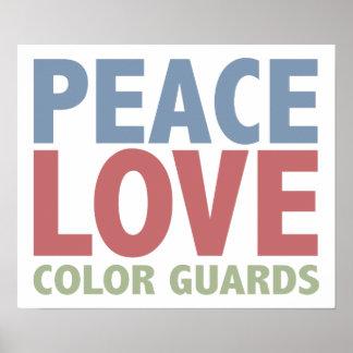 Peace Love Colour Guards Poster