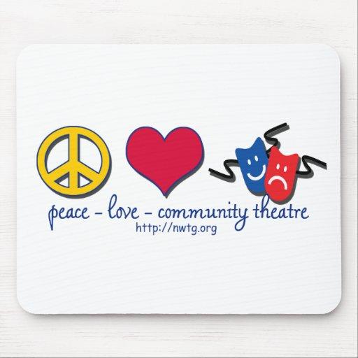 Peace Love Community Theatre Mousepads