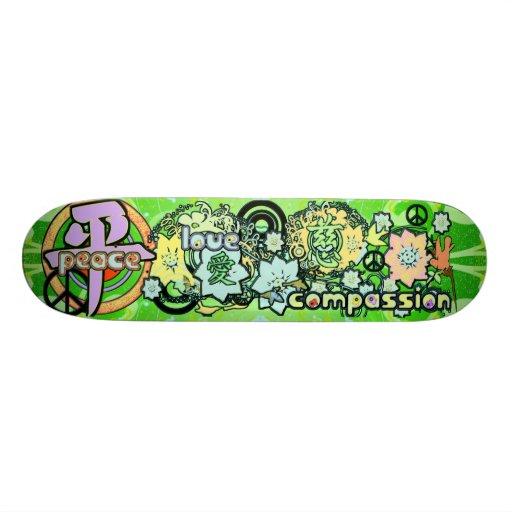 Peace-Love-Compassion-Kanji - - Skate Boards