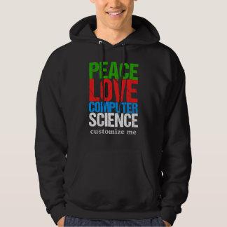 Peace Love Computer Science Hoodie