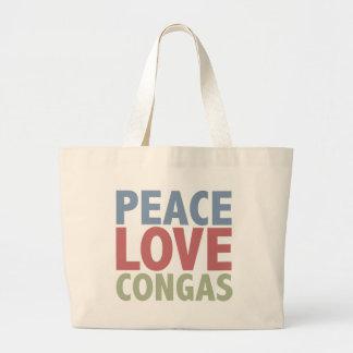 Peace Love Congas Jumbo Tote Bag