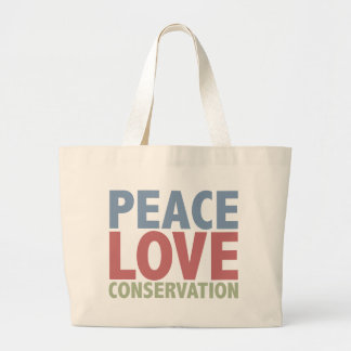 Peace Love Conservation Jumbo Tote Bag