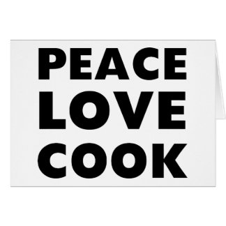 Peace Love Cook Cards