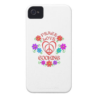 Peace Love Cooking Case-Mate iPhone 4 Case