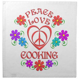 Peace Love Cooking Napkin