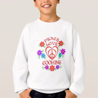Peace Love Cooking Sweatshirt