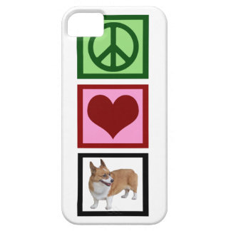 Peace Love Corgis iPhone 5 Case