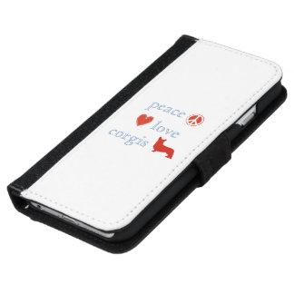 Peace Love Corgis iPhone 6 Wallet Case