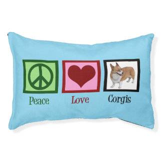 Peace Love Corgis Pet Bed