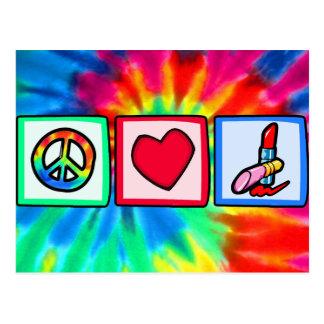 Peace, Love, Cosmetics Postcards