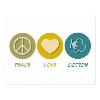 Peace Love Cotton Postcards