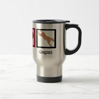 Peace Love Cougars Travel Mug