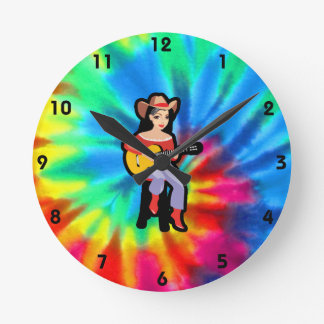 Peace, Love, Country Music Wallclocks