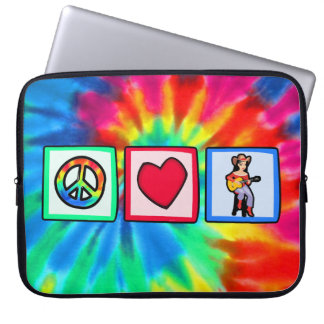 Peace, Love, Country Music Laptop Computer Sleeve