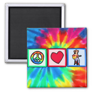 Peace, Love, Country Music Refrigerator Magnets