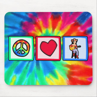 Peace, Love, Country Music Mousepads