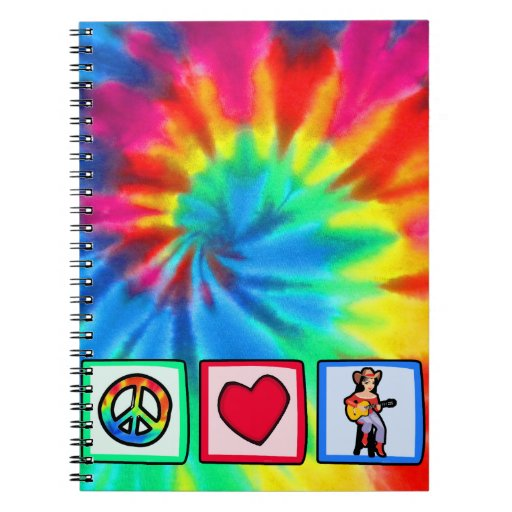 Peace, Love, Country Music Note Books