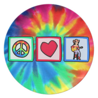 Peace, Love, Country Music Plate