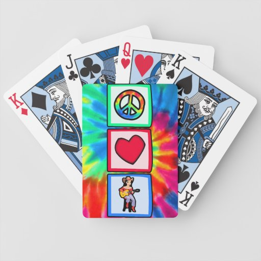 Peace, Love, Country Music Card Decks