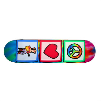 Peace, Love, Country Music Custom Skate Board