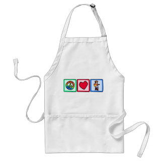 Peace, Love, Country Music Standard Apron
