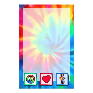 Peace, Love, Country Music Custom Stationery