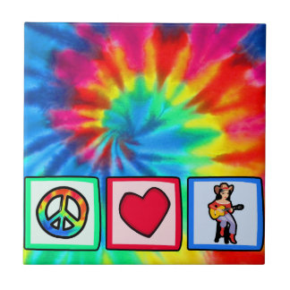 Peace, Love, Country Music Ceramic Tiles